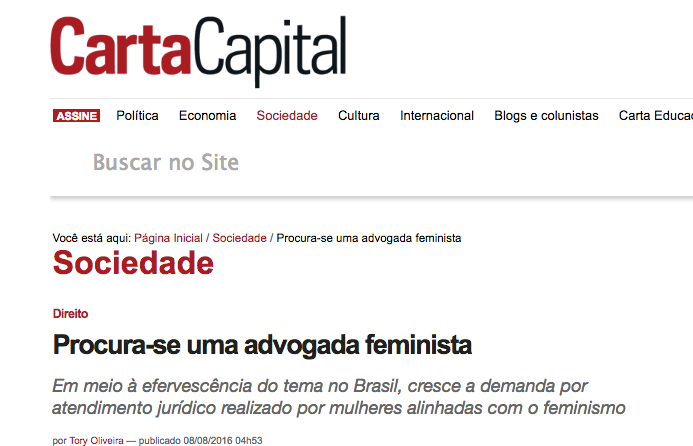 Carta Capital - Advogadas Feministas
