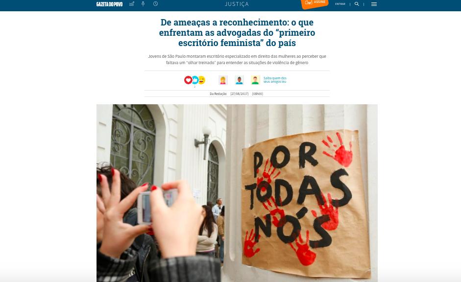 Entrevista Gazeta do Povo – sobre o escritório