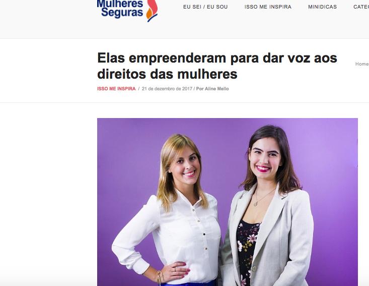 Entrevista Mulheres seguras – escritório