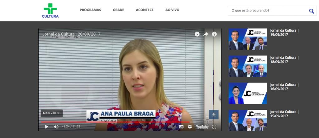 Entrevista TV Cultura – escritorio