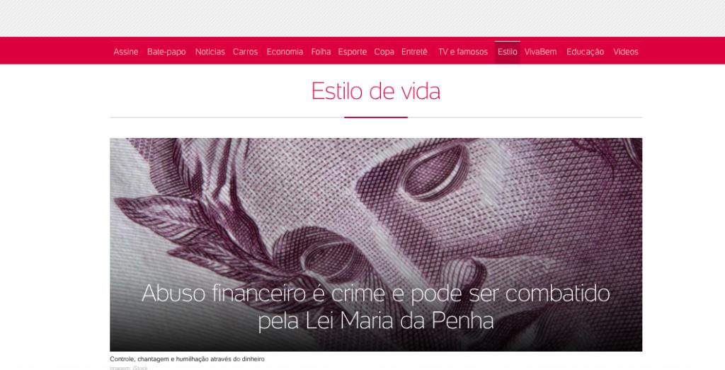 Entrevista UOL – abuso financeiro e violencia patrimonial