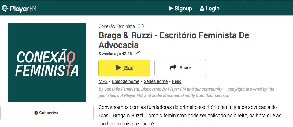 Entrevista para o Conexão Feminista