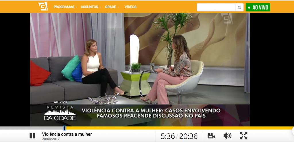 TV Gazeta - entrevista ao programa Revista da Cidade sobre violência contra a mulher