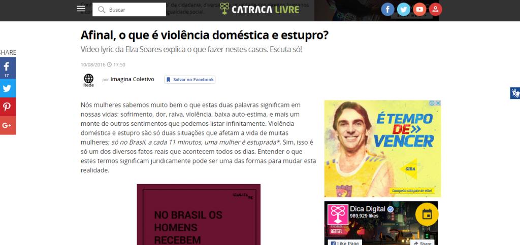Catraca Livre - O que é violência doméstica e estupro?