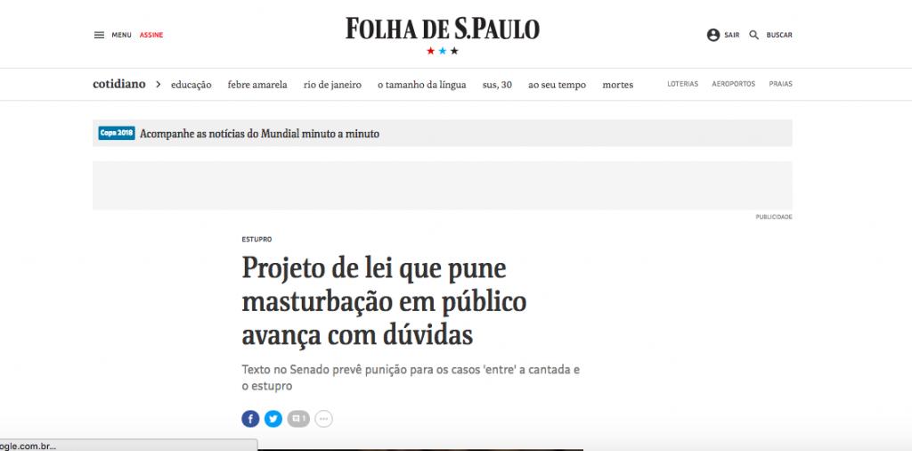 Folha – projeto importunacao 2