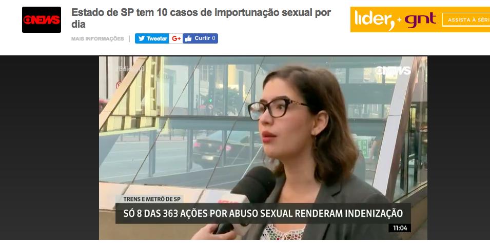 Globonews – importunaçao sexual