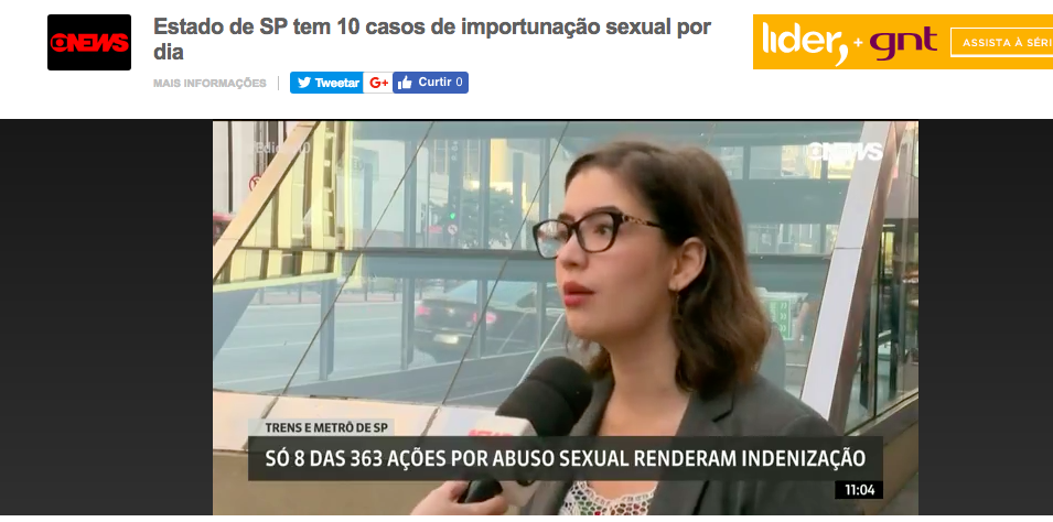 Globonews – importunaçao sexual